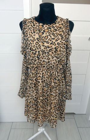 NOWA sukienka C&A w panterkę 40/42 L