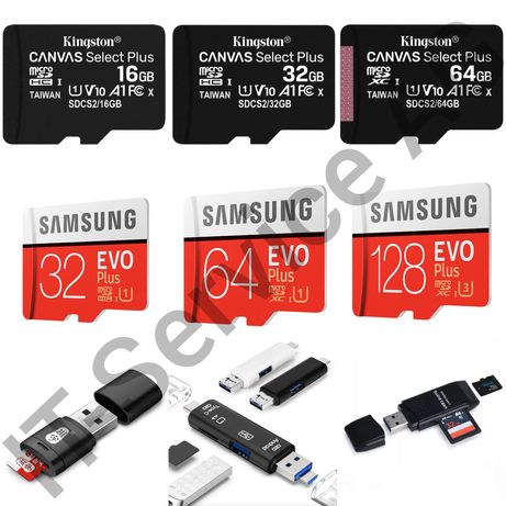 Кард ридер Карта памяти microSD Samsung Kingston 16 32 64 128GB UHS-I