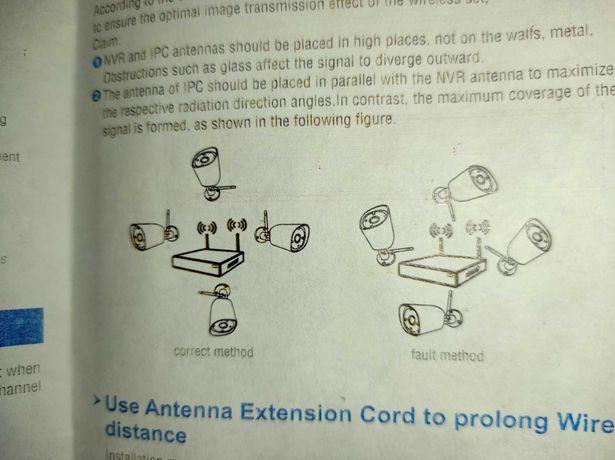 Sistema VIDEOVIGILÂNCIA WIFI  2 MP - Modo Repeter  NVR + 4 Câmeras