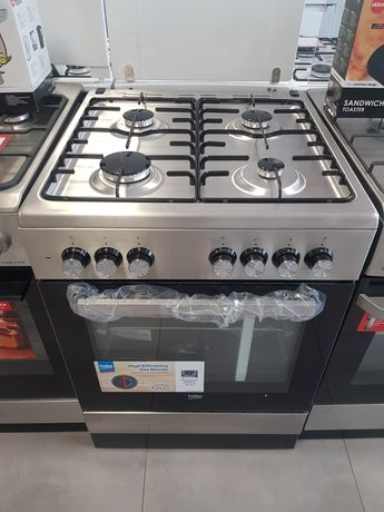 Beko FSE62120DX Kuchnia gazowo-elektryczna