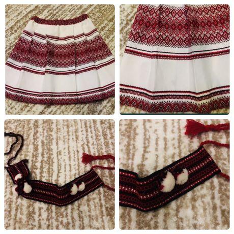 Украинский костюм 128-140 юбка и ободок