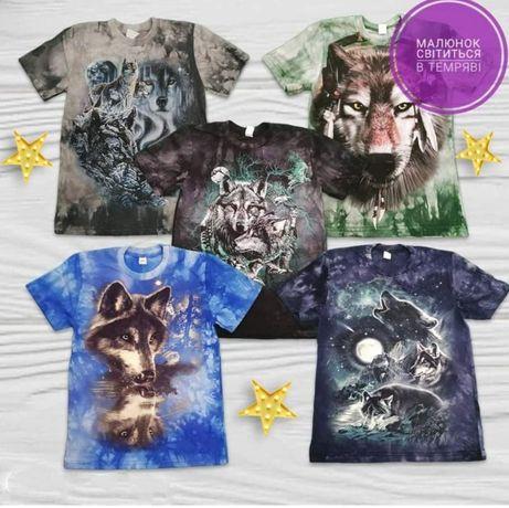 Подростковые футболки с рисунком, светящимся в темноте