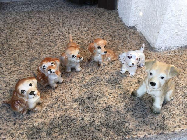 cão lote de cães em loiça