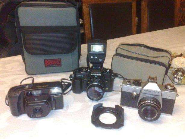 Conjunto 3máquinas fotográficas Praktica L,Chinon CP-6, Fujifilm DL800