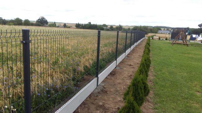 montaż ogrodzeń panelowe palisadowe wraz z materiałem