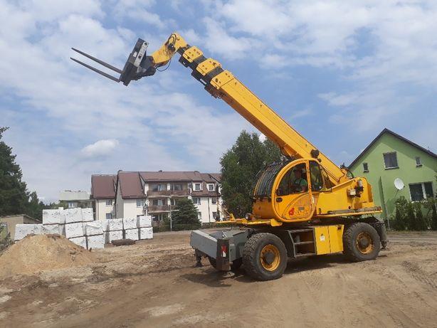 Usługi Wynajem ładowarka teleskopowa obrotowa, wys21 m, 4,5 t. operato
