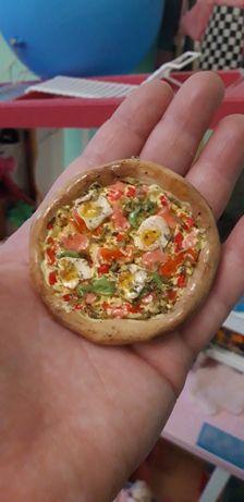 Miniatury dla lalek barbie jedzenie akcesoria pizza