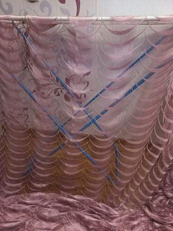 Тюль фиолетовая 300×290