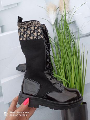 Buty kozaczki botki długie dla dziewczynki 32,33,34,35,36