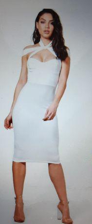 Boohoo biała sukienka