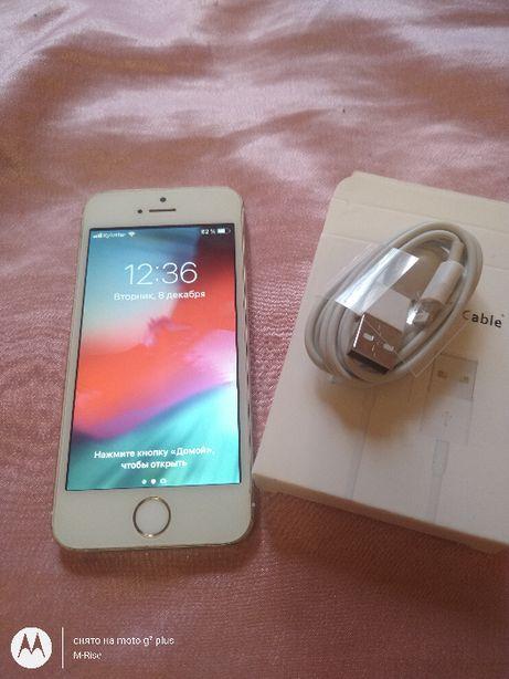 IPhone 5S 16GB из США! Icloud чист ios 12.4.9 Неверлок Износ акб 17%
