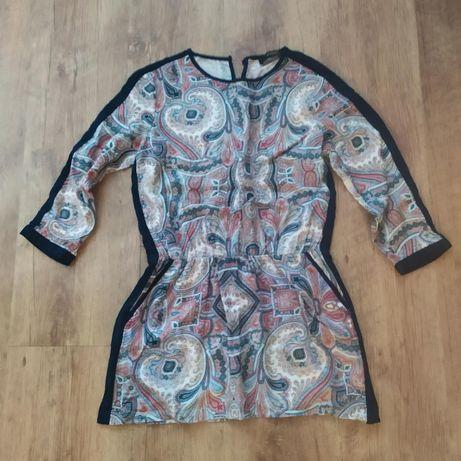 sukienka/tunkia reserved 34/36 wzorki lamówki kieszonki