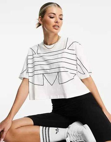 UK 8/EU36/S Белая футболка с логотипом Adidas! Оригинал, Англия!