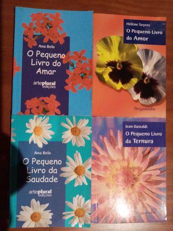 4 Livros AMAR AMOR SAUDADE TERNURA