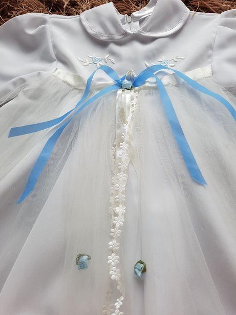 Sukienka na chrzest uroczystosc Kapelusz r 74