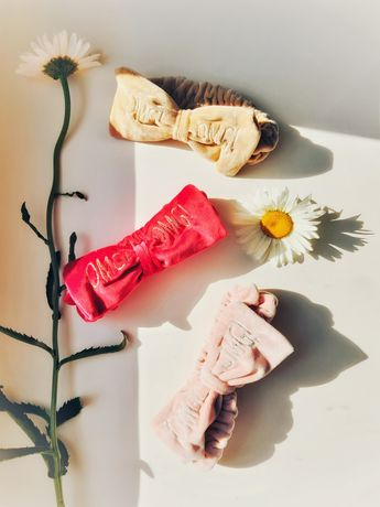 Косметическая бант - повязка OMG для волос. Летняя повязка для волос