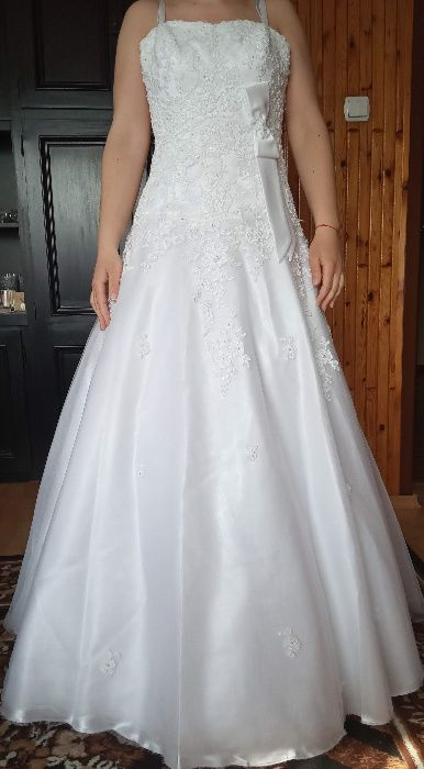 Sprzedam śliczną suknię ślubną Myszków - image 1
