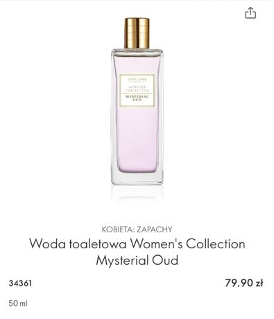 Woda toaletowa Women's Collection Mysterial Oud Oriflame