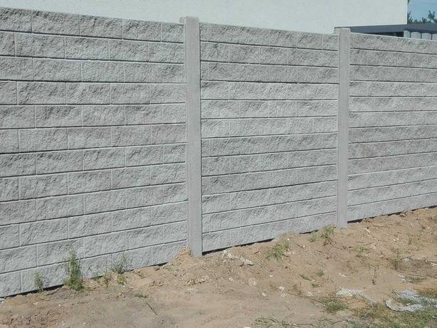 Ogrodzenia betonowe Dachowa