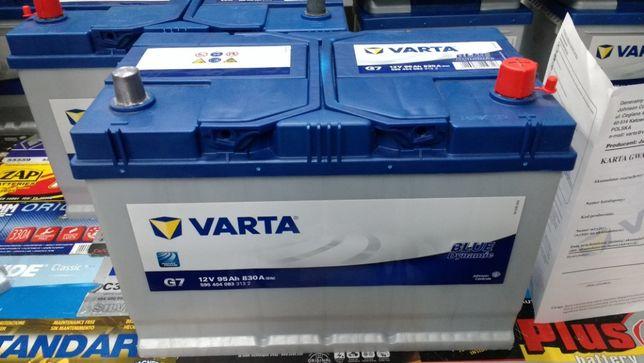 Akumulator Varta Blue 12V 95Ah 830A G7 P+ Mazda Toyota montaż Kraków