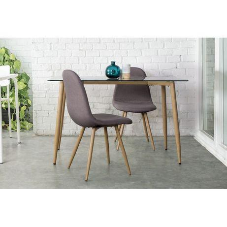 Mesa Jantar 120X70 vidro e aço Dinning Table- by OVO Home Design