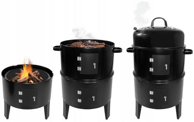 Grill węglowy 3w1 Grill, wędzarnia, palenisko
