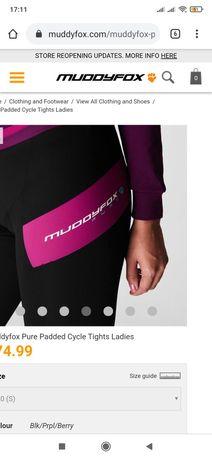 Велолосины, вело шорты, Muddyfox cycle padded tights women