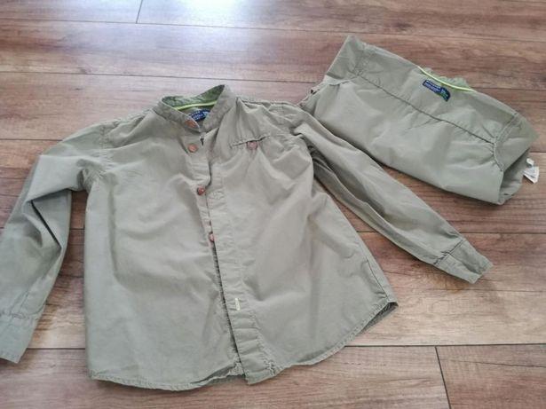 Koszula khaki Reserved rozmiar 110 dla bliźniaków