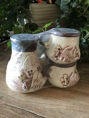 Турка (джезва) керамическая с чашечками