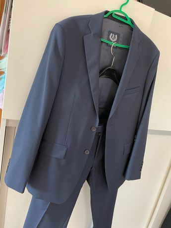 Granatowy garnitur Lavard na 170 cm