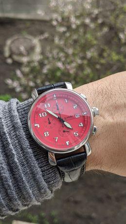 Часы мужские хронограф Zepter с коробкой фосфорные