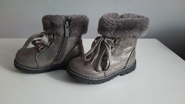 Buty botki dziewczęce Nelli  Blue rozmiar 22