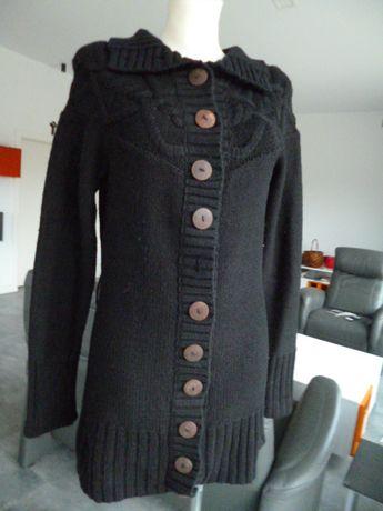 Czarny rozpinany sweter rozm.- M -