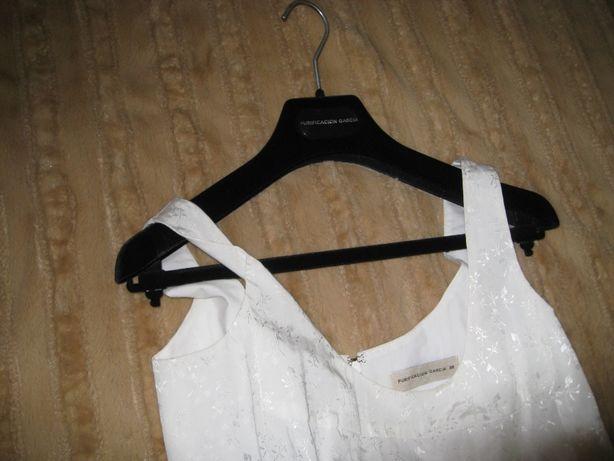 Vestido branco marca Purificacion Garcia