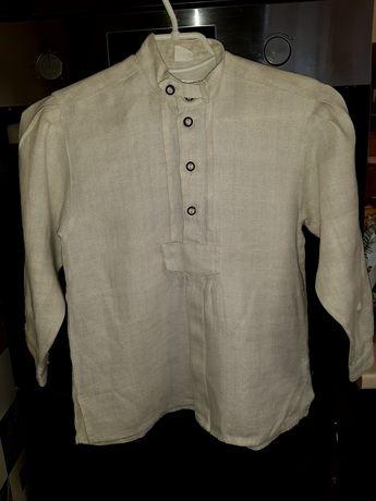 Рубашка льняная на рост 134-140