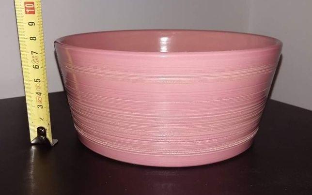 Osłonki ceramiczne różowe do roślin, doniczki