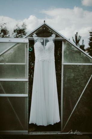 suknia ślubna rozmiar 36-38 kolor ivory