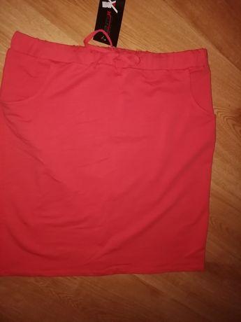 Nowa dresowa koralowa spodniczka spodnica xxl 44