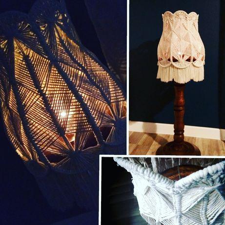 Abażur lampa makrama