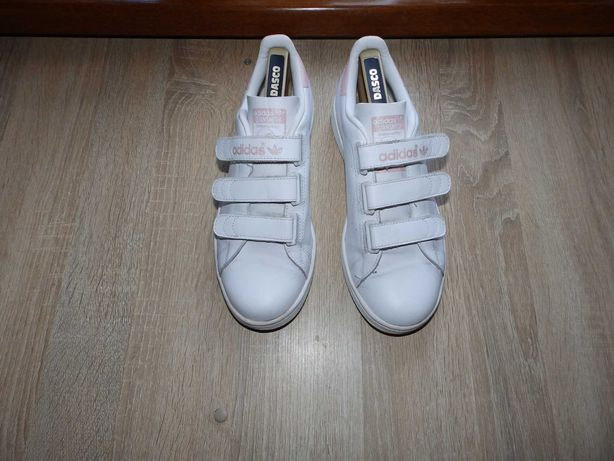 Кроссовки adidas stan smith white velcro trainers