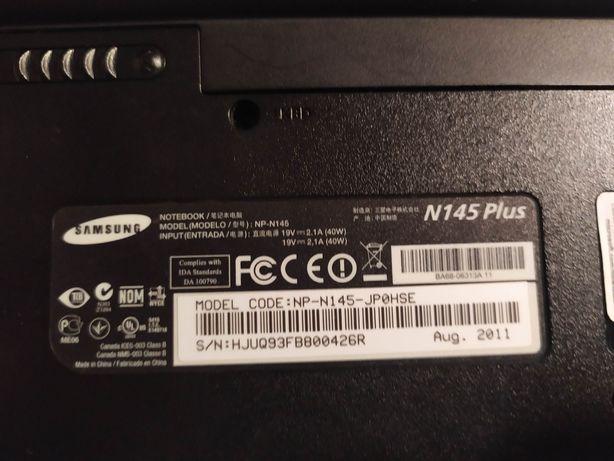 Samsung n145plus netbook