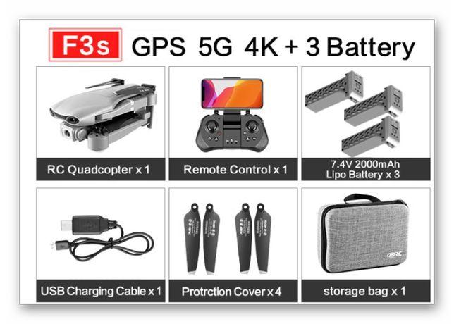 Dron 4DRC F3-Kamera-4K-5G-WIFI-GPS-FPV-3xAkumulator