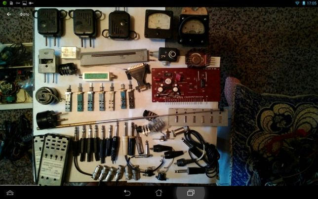 Радиодетали, амперметр, вольтметр, тестер, мультиметр,динамики,зарядки