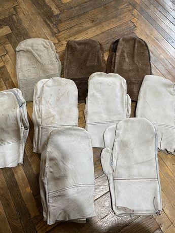 Кожаные замшевые перчатки строительные рабочие спец перчатки