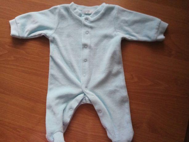 Pajacyk piżamka niebieski Pepco welurek rozmiar 56