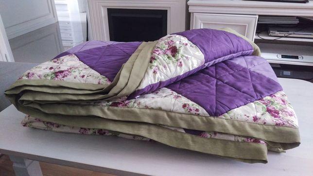 Patchwork piękny narzuta koc nakrycie łóżko