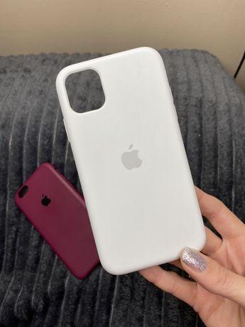 Матовый чехол на iPhone 11 / айфон 11 цвет Белый