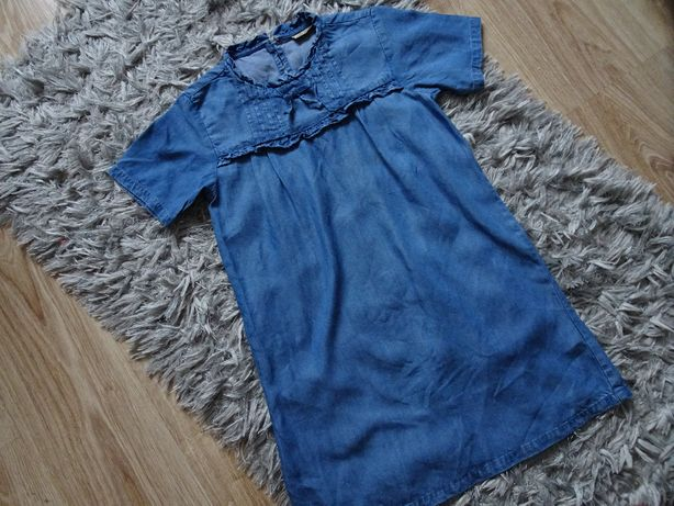 Next sukienka tunika dżinsowa 134 /140