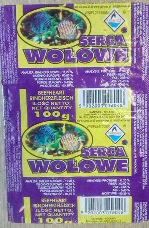 Serca wołowe mrożone 100g