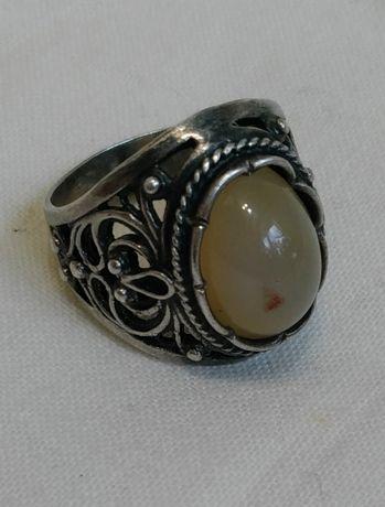 Перстень Серебро 925 проба с натуральным камнем Кольцо винтажное